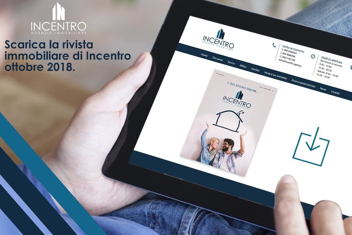 Scarica la nuova rivista immobiliare Incentro – Ottobre/Novembre 2018