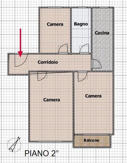 Piano 2° Planimetria sub 4