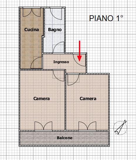 Piantina 1° Piano SUB 3